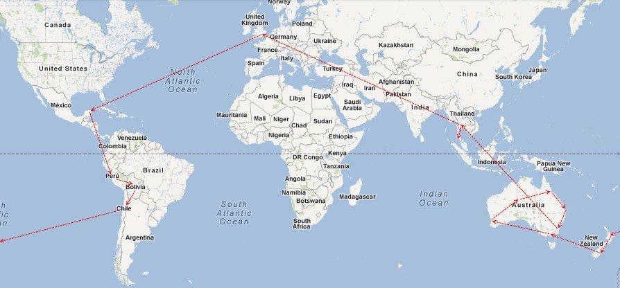 Sabbatical Map