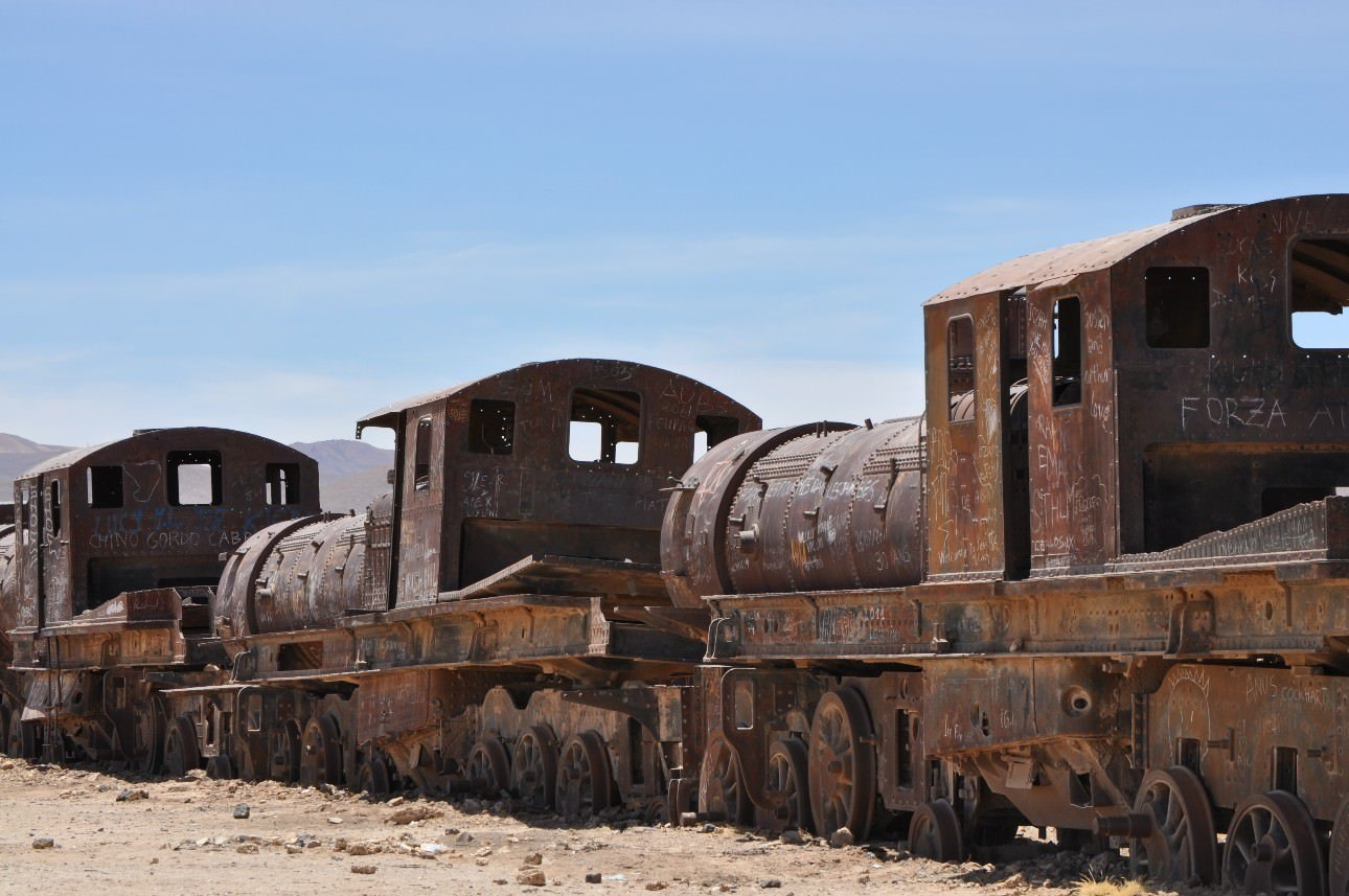 Train Cemetery Rusting Trains